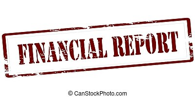 Financial report - Stamp with text financial report inside,...