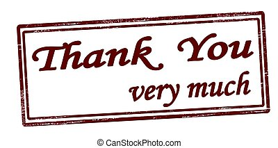 Thank you very much - Stamp with text thank you very much...