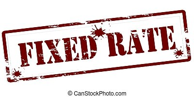 Fixed rate - Stamp with text fixed rate inside, vector...