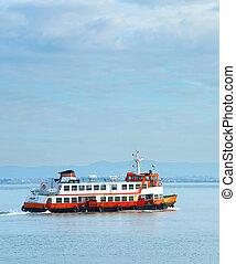 Lisbon Almada ferry boat, Portugal - Ferry boat from Lisbon...