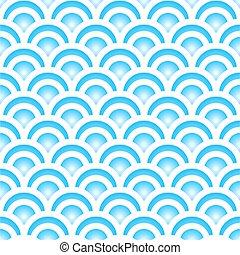 Blue Japanese seamless pattern