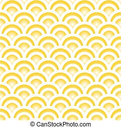 Yellow Japanese seamless pattern