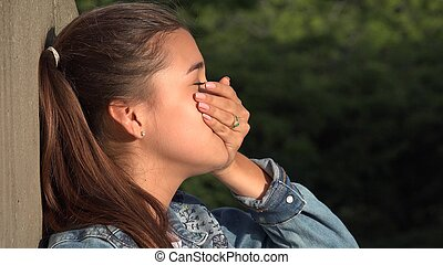 Confused Teen Girl Stressed Person