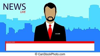 TV broadcast news