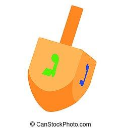Hanukkah dreidel vector - Vector illustration of Hanukkah...