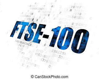 Stock market indexes concept: FTSE-100 on Digital background...