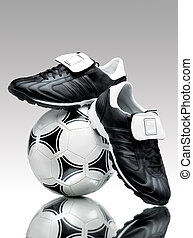Blacknwnite - A pair of cool football boots standing on a...