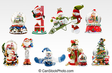 X-mas fun. - A set of X-mas presents including snowmen,...