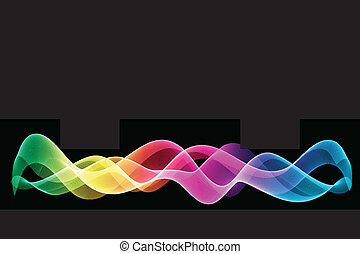 Rainbow abstract - Abstract rainbow coloured background