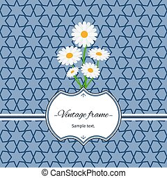 Seamless pattern with frame and flowers