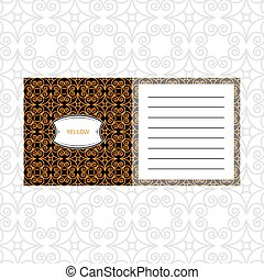Notepad design with yelow geometric pattern