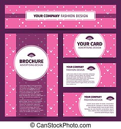 Corporate identity design with princess pattern