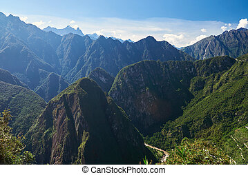 Beautiful mounatin landscape on sunny light day. Mountain...