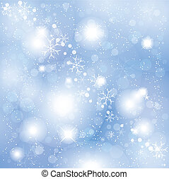 Snowflakes and stars - Background of snowflakes and stars