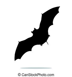 Bat mammal black silhouette animal