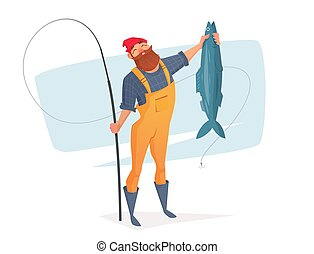 Vector illustration for rest on a fishing trip.