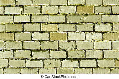 Yellow brick wall texture. Architectural background and...