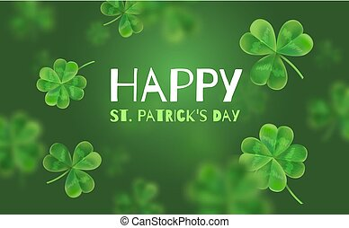 Template Design banner on St. Patrick's Day. 3d effect...