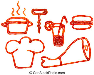 Kitchen utensil and food - The images of kitchen utensils...