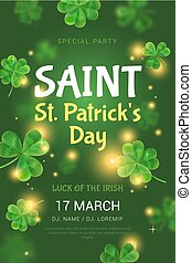 Poster for St. Patrick's Day party.
