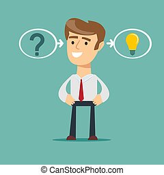 thinking or problem solving business concept.