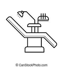 Dentist chair and equipment icon, vector illustration