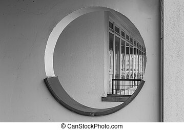 Round hole in a wall