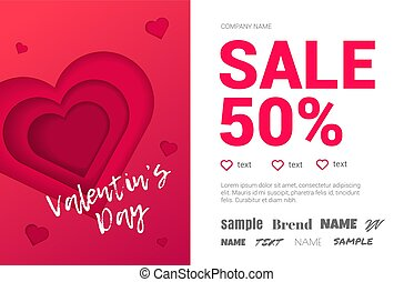 Beautiful booklet with the sale of 50% on Valentine's Day.