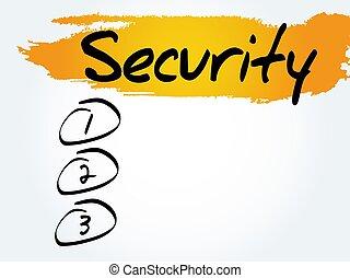 SECURITY blank list