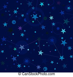 Starry Night pattern swatch (seamless tile)
