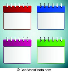 Calendar icon isolated on grey background. Vector Illustration