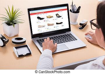 Businesswoman Doing Online Shopping