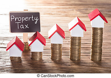 Property Tax Text On Small Black Board