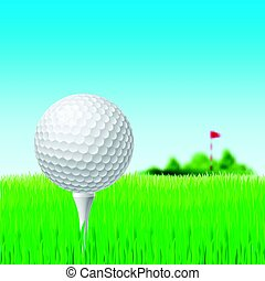 Not found title - Golf Ball and Red Flag on Green Grass