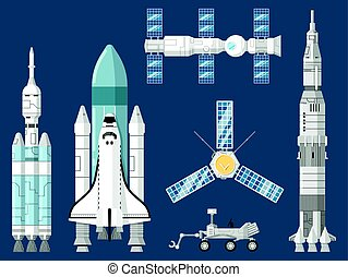 Astronautics and space technology set - Astronautics and...
