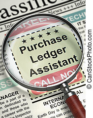 Purchase Ledger Assistant Join Our Team. 3D. - Purchase...