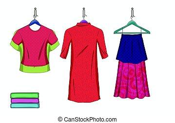 Set of trendy women s things.