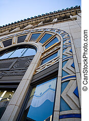 Asheville Architecture - Detail of historic architecture in...