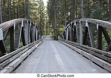 Country Bridge - An old single lane country road arch bridge...