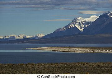 Torres del Paine National Park - Mountain peaks of Cuernos...