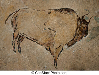 Cave Painting - A reconstruction of a cave painting