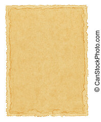 Waterstained Paper - Old vintage paper with a water-stained...