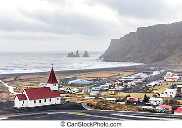 Vik i Myrdal Church Iceland