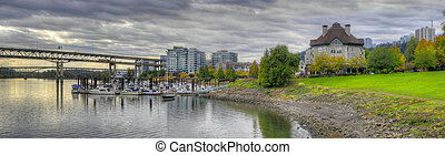 River Place Marina in the Fall Panorama 2 - River Place...