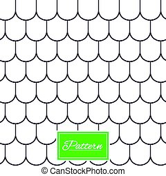 Roof tile geometric seamless pattern. - Roof tile lines...