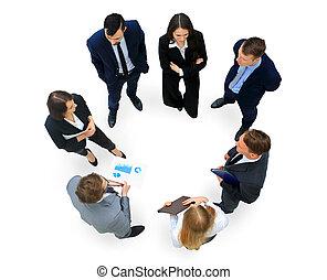 グループ, ビジネス, 人々