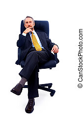 man isolated on white bacground - businessman isolated on...