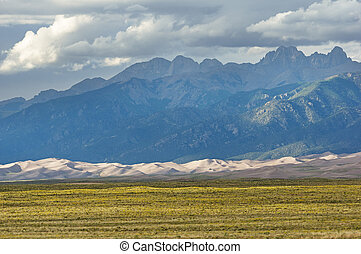Mountains Above Great Sand Dunes - The Sangre De Cristo...