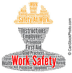 Work safety word cloud concept