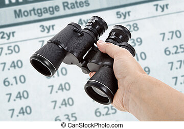 Binoculars and Mortgage Rates, concept of Business success